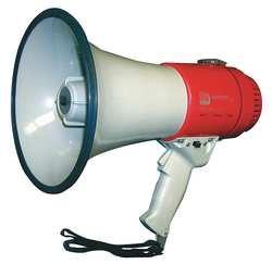 (Industrial Grade 3YML8 Megaphone, Dia 7 3/4 In, Range 5/8 Mile)