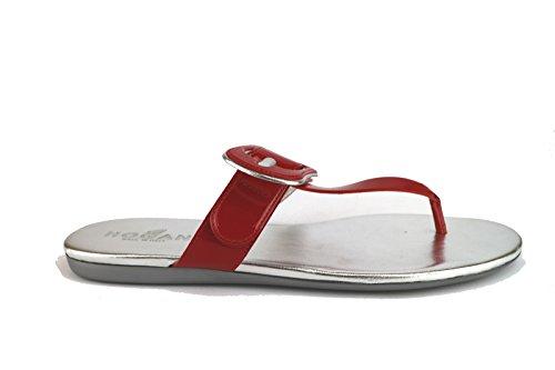 6 Woman Blue US Hogan Red Red Sandals Leather 36 EU Patent Purple 7qw1x0A