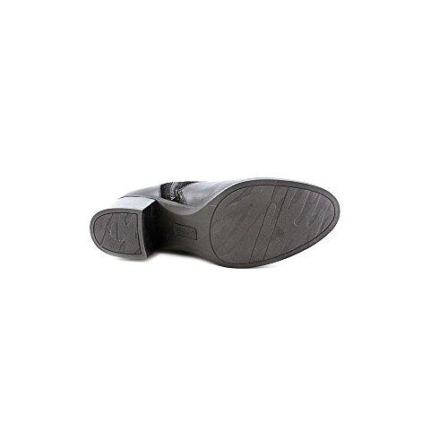 Anne Klein Womens Joetta Leather Almond Toe Knee High Fashion Boots Black rLMPLxqa