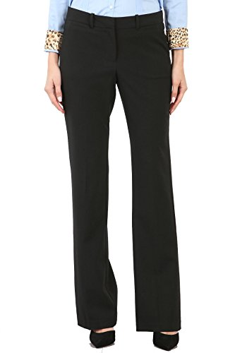 Maryclan Career Women's Dress Pants Little Boot Cut (Small, Black) by Maryclan
