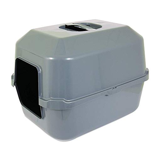- Lidded Litter Box Easy Entry for Older or Larger Cats Drip Rim on The Hood- Secures Hood Inside and Out of The Pan Molded-in Handle Which Secures Hood Inside and Out of Pan