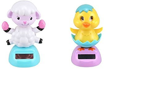 Solar Dancing Lamb and Chick with Blinking Eyes - 2 Piece Set ()