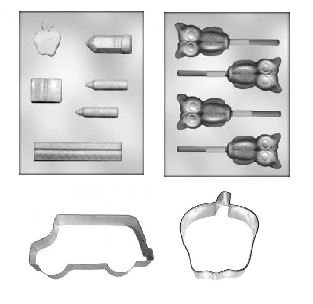 Ultimate School Assortment Chocolate Molds and Cookie Cutters