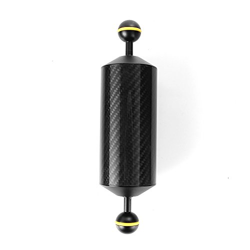 Run Shuangyu 8in Carbon Fiber 1in Dual Ball Floating Arm for Buoyancy Underwater Camera System by Run Shuangyu