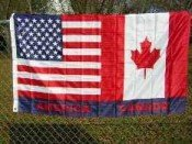 USA American and Canada Friendship Flag 3 x 5 Foot America Canadian Friend (America Canada Flag)