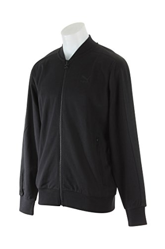 PUMA Men's T7 Bomber Jacket Black Outerwear (Puma Baseball Bag)