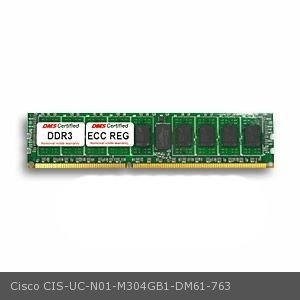 DMS Compatible/Replacement for Cisco UC-N01-M304GB1 UCS B200 M1 Blade Server 4GB DMS Certified Memory DDR3-1333 (PC3-10600) 512x72 CL9 1.5v 240 Pin ECC Registered DIMM - DMS