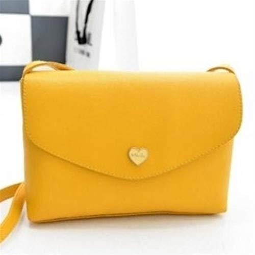 De En Shanzwh jaune Bandoulière Main Sac Pour Femme À Coeur Forme xrrw1gX
