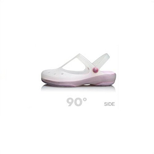 Eastlion Girl's Summer Beach Clogs Mary Jane Shoes Garden Shoes Light Pink q8Bj0TScK2