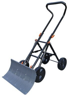 Snow Shovel with Wheels- Variety To Go Adjustable Wheeled Snow Pusher, Heavy Duty Rolling Snow Plow Shovels with 8