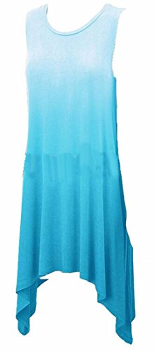 Dye Sundress Blue Jaycargogo Tie Tank Swing Light Summer Women Sleeveless Top Casual w1qa41t