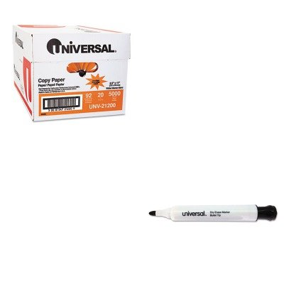 KITUNV21200UNV43680 - Value Kit - Universal Dry Erase Markers (UNV43680) and Universal Copy Paper (UNV21200)