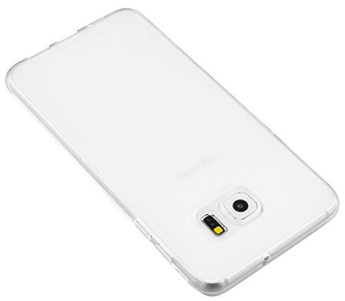 mumbi Schutzhülle für Samsung Galaxy S6 Edge+ Hülle transparent weiss h7dAh
