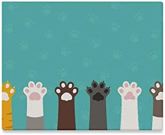 Amazon Com Jtmoving Wall Art Painting Cat Paws Wallpaper Legs Dog Paw Prints On Canvas The Picture Landscape Pictures Oil For Home Modern Decoration Print Decor For Living Room Home Kitchen
