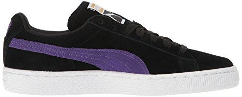 Puma Women's Suede Classic WN's Fashion Sneaker, Black Puma Black-royal Purple