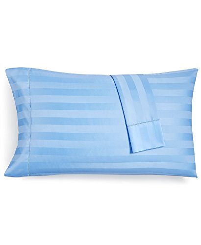 Travel Pillow Cases 12x16 Size Organic Cotton Zipper Pillow Cases Set of 2 Travel Pillowcase 600 Thread Count 100% Egyptian Cotton 2 Pack, Toddler Pillowcase Light Blue Stripe Zipper Closer by b-star