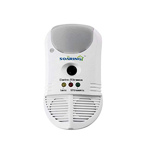Soaring 5 in 1 Multifunctional Pest Repeller with Ultrasonic Electro-Vibrawave and Ionic Technology Repels Roaches Rodents Spiders Ants Bed Bugs Mites and More