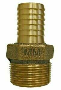 Midland 973-927 Bronze Insert Hex Male Adapter, Bronze, 1'' Barb x 1'' Male Pipe