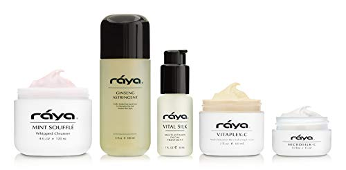 RAYA Normal To Dry Skin Care Kit (K-2) | 5 Piece Set of Best Selling Products for Normal to Dry Skin | Includes Cleanser, Toner, Moisturizer, Eye Cream, and Serum