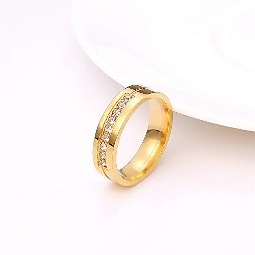 Rhame Stainless Steel Women Men Love Heart Couple Band Ring Engagement Wedding Promise | Model RNG - 9311 | 5