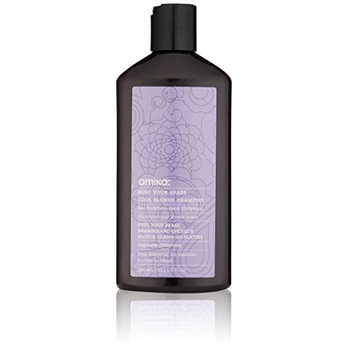 Shampooing cheveux Blond Clair ou Platine Amika Bust Your Brass 300 ml