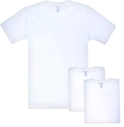 - Lucky Brand Men\'s Crew Neck Cotton Undershirt (3 Pack) (Small Slim, White Slim)'