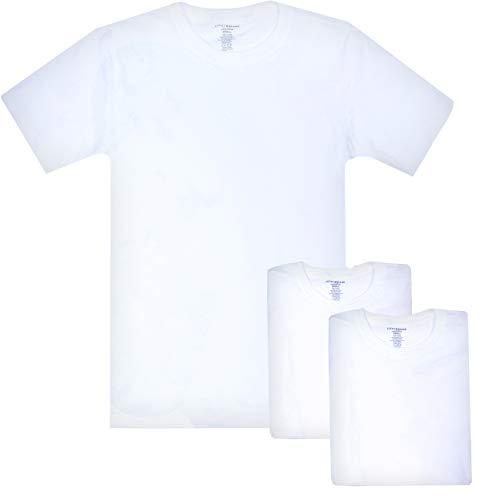 - Lucky Brand Men\'s Crew Neck Cotton Undershirt (3 Pack) (Small Slim, White Slim)'