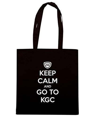 Speed Shirt Borsa Shopper Nera TKC3339 KEEP CALM AND GO TO KGC