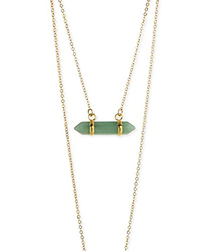 Green Obelisk (Boho Stone Layered Necklace)