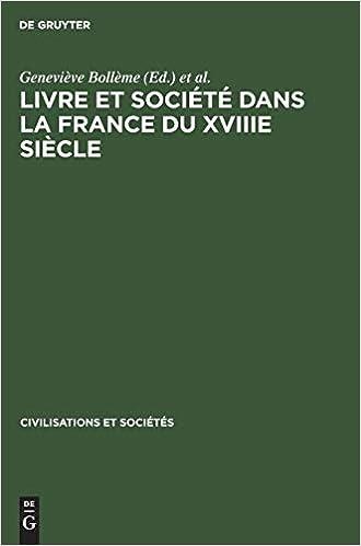 Amazon Com Livre Et Societe Dans La France Du Xviiie Siecle