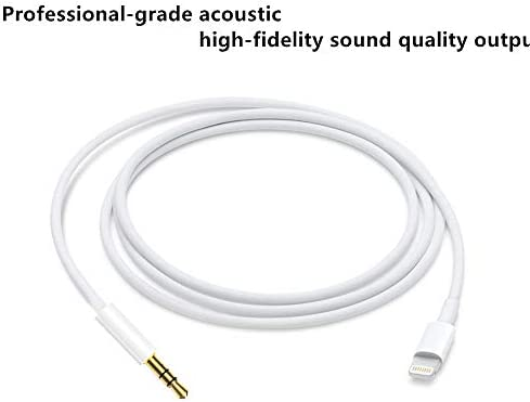 MP3 & MP4 Player Accessories White Aux Cord for iPhone Compatible ...