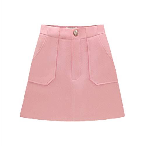 LLS-Jupe Courte/Midi Jupe/Femmes Rtro Jupe Basique Pink