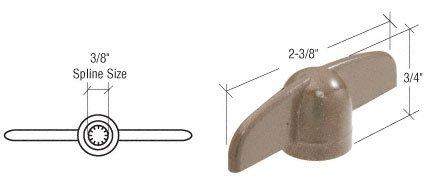 T-crank Casement Operator Handles (CRL Stone 3/8