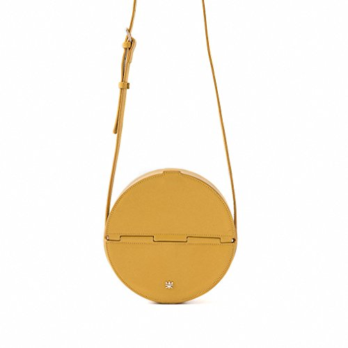 New fashion women Leather Round Bag Yellow by JJHDQ