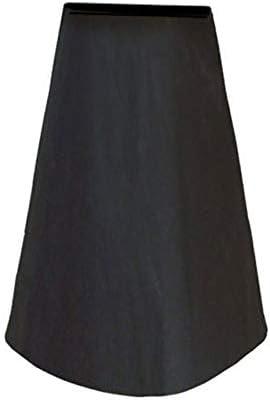 屋外テーブルチェアカバ 煙突カバーアウトドアストーブカバーポータブル花瓶布カバー210Dオックスフォード布屋内屋外のカバー防水防塵 保護カバー ガーデン屋外用 (Color : Black, Size : 122x21x61cm)