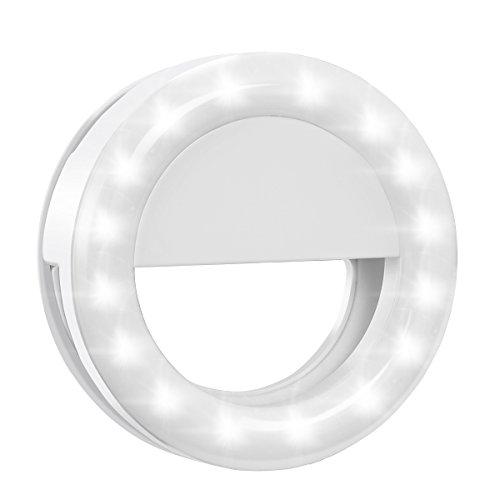 Cheap Flash Tubes Criacr Selfie Ring Light, Clip-on LED Camera Light, Rechargeable 33 LED Fill-light,..
