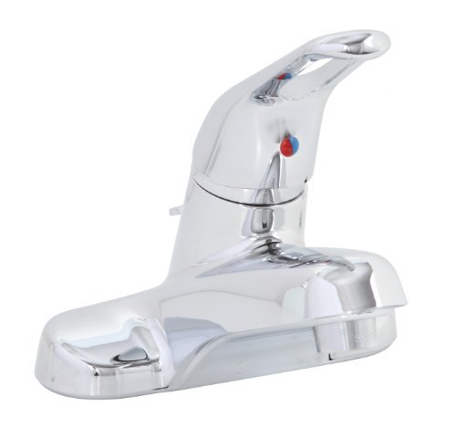 Premier 120129LF Bayview Lead-Free Single-Handle Loop Handle Lavatory Faucet with ABS Pop-Up, Chrome by Premier
