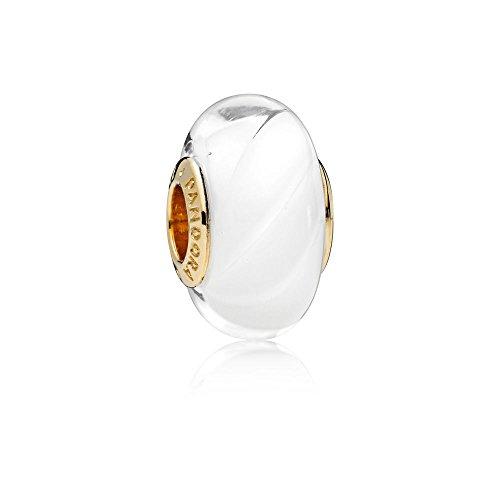(PANDORA Shine White Waves Murano Glass 767160)
