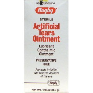 Rugby Artificial Tears Ointment 1/8 oz (Pack of 3)