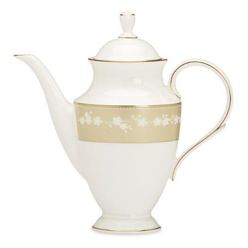 Lenox Bellina Gold Coffeepot W/Lid by Lenox (Bone Bellina China)
