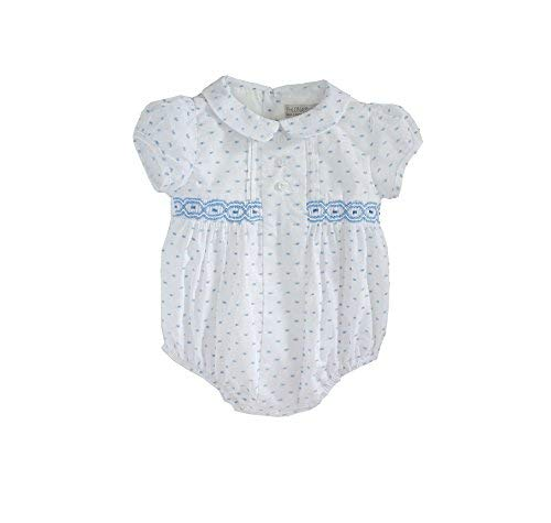 Phlona Baby Boys Smocked Bubble with Collar (1M) - Smocked Bubble