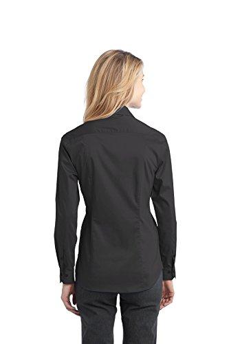 Autoridad Portuaria de la mujer Stretch Popelina camisa Gris humo
