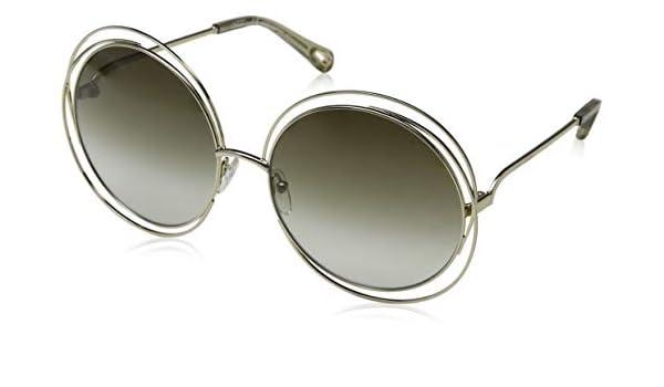 Chloé Ce114Sd 733 62, Gafas de sol para Mujer, Gold ...
