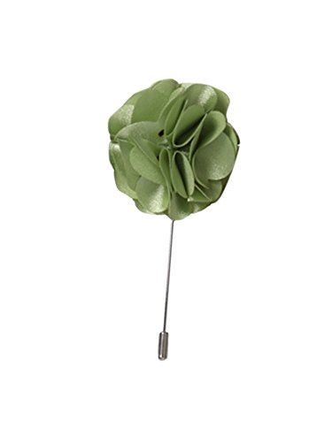 Men's Mint Flower Lapel Pin Boutonniere For Suit