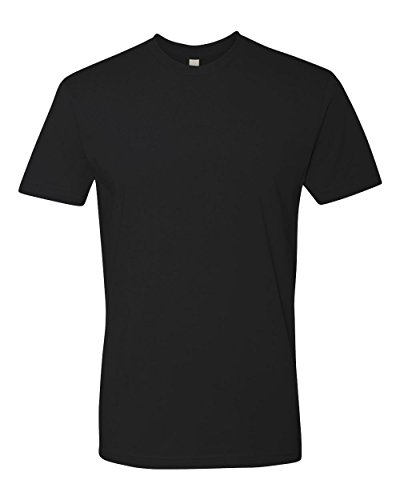 next-level-mens-premium-fitted-short-sleeve-crew-t-shirt-large-black