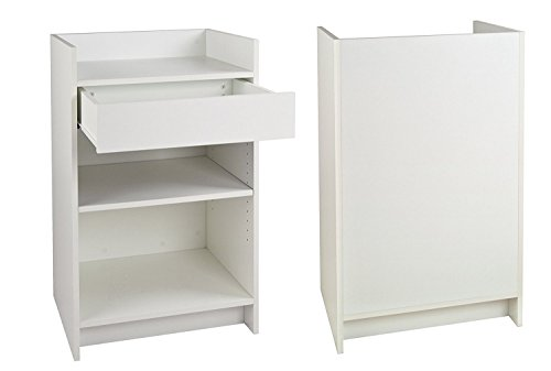 """Only Garment Racks #9035W White Register Stand, 24"""" for sale  Delivered anywhere in USA"""
