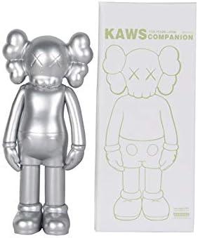 YXACE Toy Statue Sesame Street KAWS Doll Doll 20cm Prototype Original Companion 8 Inch Decoration Hand Action Picture Black-20cm