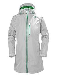 Helly Hansen Long Belfast Waterproof Rain Jacket with Hood