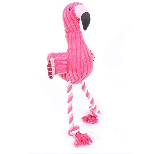 (V2AMZ - 1PC Popular Funny Wild Flamingo Shape Dog Toy Squeaky Pet Puppies Chew Toy Plaything Sound Toy)