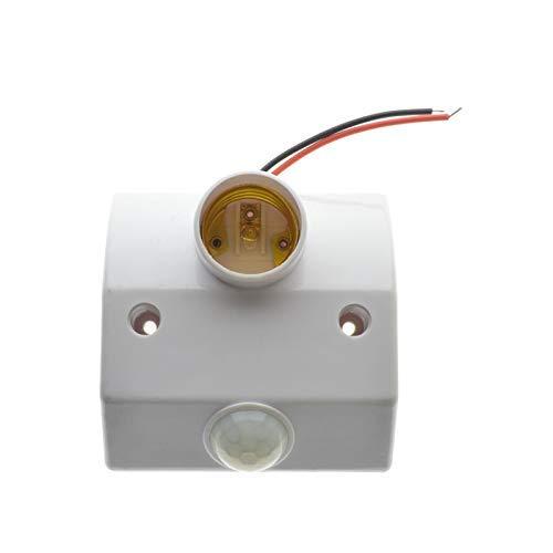 AiCheaX E27 Casquillo de Casquillo PIR Sensor de Movimiento ...
